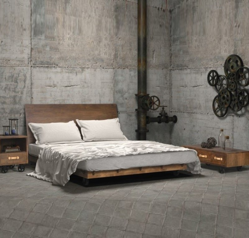 Industrial Loft Bedroom