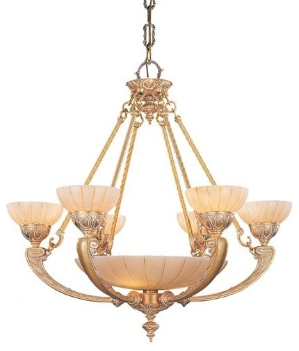 Crystorama 895 Wh Ornate Cast Brass Natural Alabaster Chandelier Alabast Victorian Chandeliers