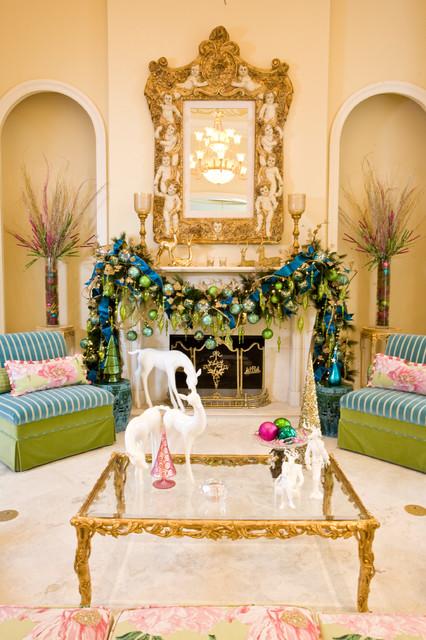 Christmas Interiors mediterranean-living-room