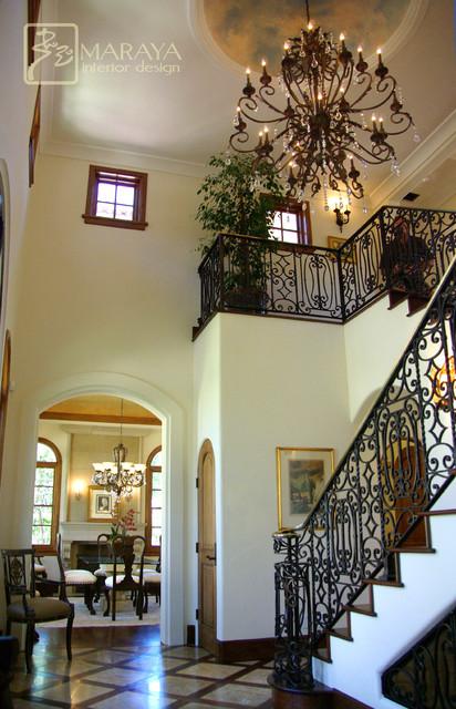 Santa Barbara Stairwell Foyer Mediterranean Staircase