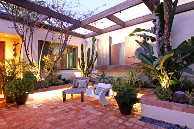 Courtyard - Tropical - Patio - Orange County - by Flea ... on Courtyard Patio Ideas id=60686