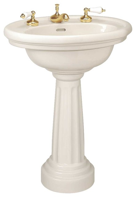 philadelphia oval biscuit china gloss bathroom pedestal sink