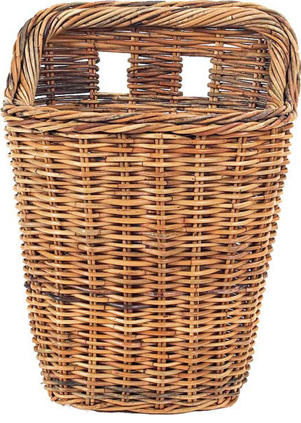 French Country Rattan Wall Basket 20 Farmhouse