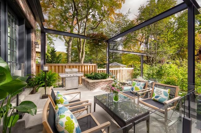 Tiered Contemporary Urban Garden - Contemporary - Patio ... on Small Urban Patio Ideas id=42505