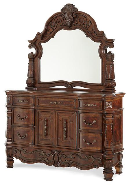 Dresser, Mirror, Vintage Fruitwood Finish - Victorian ... on Makeup Bedroom  id=83105