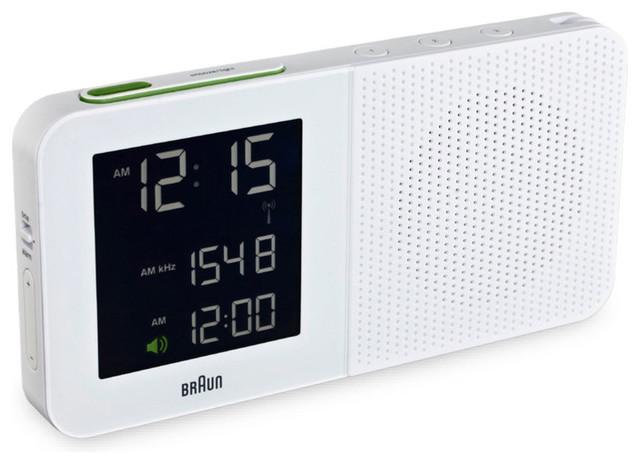 Braun Am Fm Alarm Clock White