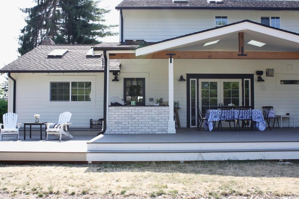 Modern Farmhouse Outdoor Living Space - Farmhouse - Deck ... on Farmhouse Outdoor Living Space id=78420