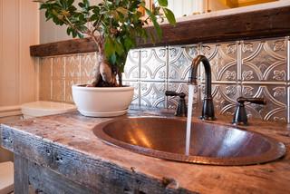 Bathrooms With Tin Ceilings Farmhouse Bathroom Tampa