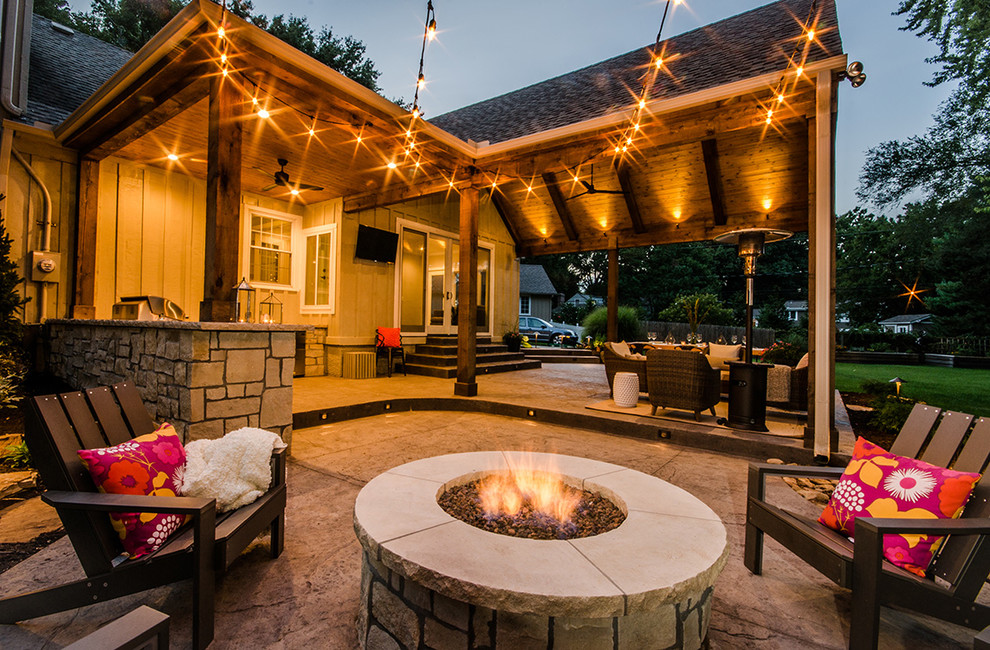 Outdoor Living Space - Rustic - Patio - Kansas City - by ... on Living Patio id=71639