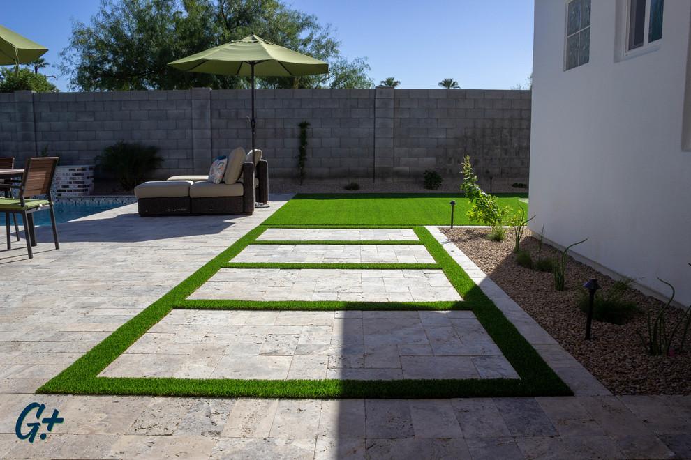 Arcadia - Backyard Pool & Landscape Remodel - Rustic ... on Arcadia Backyard Designs id=42762