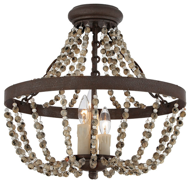 Savoy House Lighting Mallory 3 Light Semi Flush Mounts Fossil Stone View In Your Room Houzz
