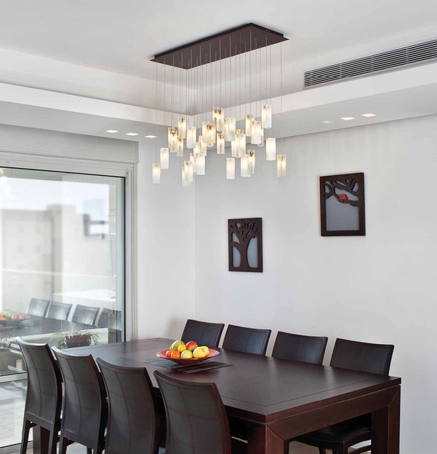 Drops Chandelier Contemporary Dining Room