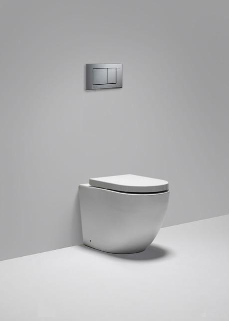 Halo Dual Flush Floor Mount Toilet Modern Toilets