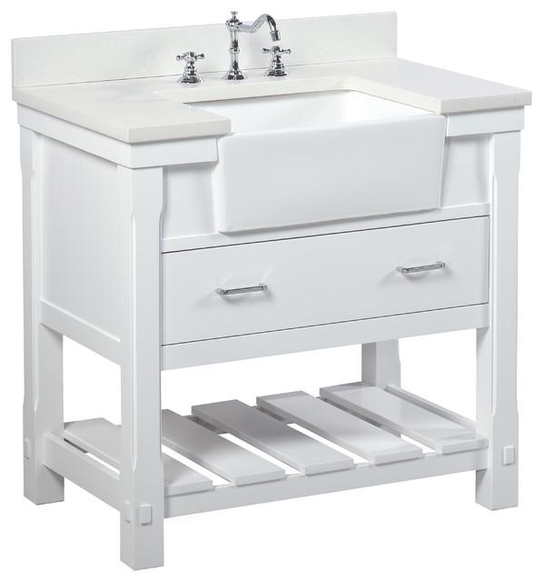 charlotte bathroom vanity white 36 quartz top single sink
