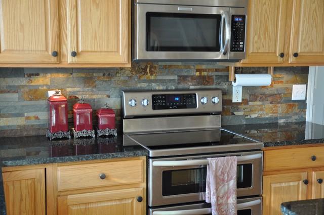 Granite Countertops and Tile Backsplash Ideas - Eclectic ... on Backsplash Ideas With Granite Countertops  id=28543