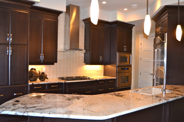 New Custom Maple Cabinets...dark stain - Traditional ... on Dark Maple Cabinets  id=31374