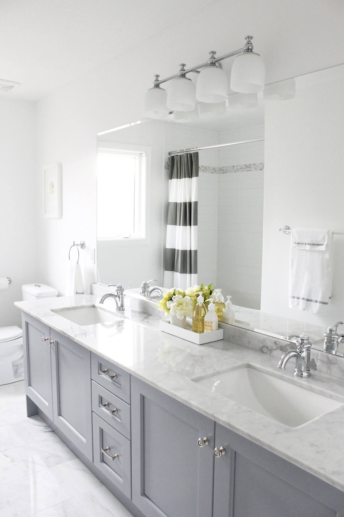 Gray And White Bathroom Houzz