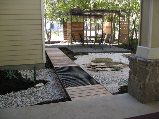 Small Backyard Oasis - Contemporary - Landscape - Austin on Modern Landscaping Ideas For Small Backyards  id=68891