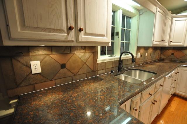 Granite Countertops and Tile Backsplash Ideas - Eclectic ... on Kitchen Backsplash Backsplash Ideas For Granite Countertops  id=93527