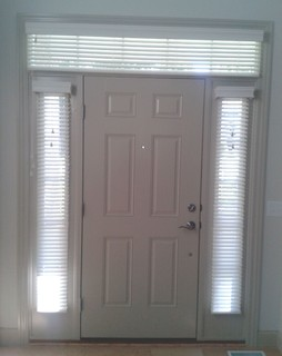 Sidelight Window Treatments Blinds In Side Windows And