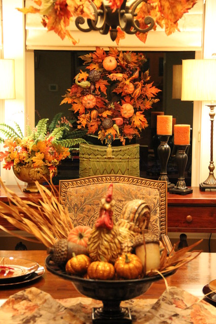 Fall Dining Room Tablescape Traditional Dining Room