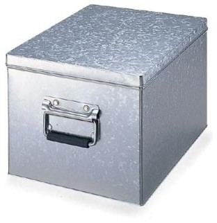 Tin Box With Lid Modern Storage Bins And Boxes By