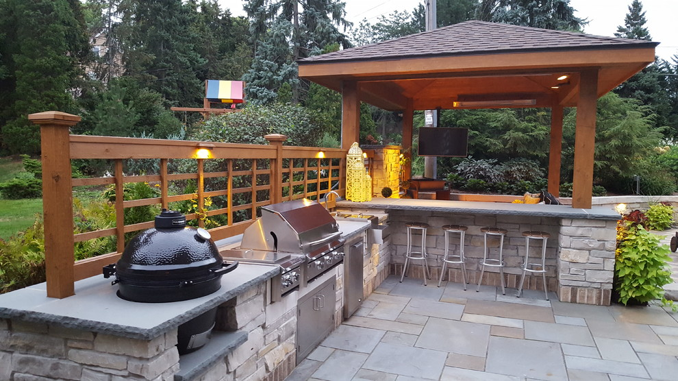 Outdoor Grill Stations and Kitchens - Traditional - Patio ... on Outdoor Grill Patio id=49129