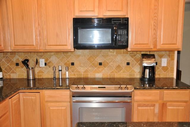 Granite Countertops and Tile Backsplash Ideas - Eclectic ... on Kitchen Backsplash Backsplash Ideas For Granite Countertops  id=53981