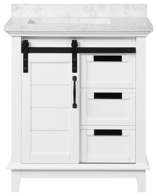 ove decors edenderry 30 vanity black hardware white