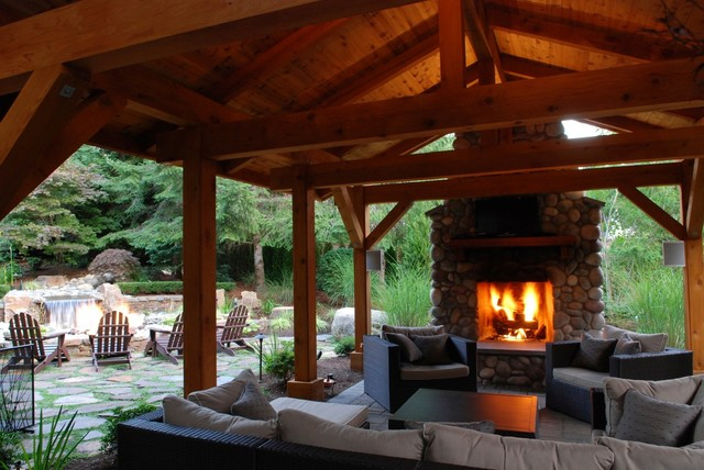 Outdoor Rooms - Traditional - Patio - Other - by Custom ... on Houzz Backyard Patios  id=16294