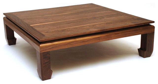 Suede Ottoman Coffee Table