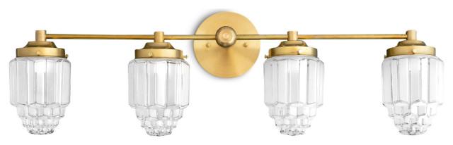 art deco vanity wide brass vanity fixture model no 1082