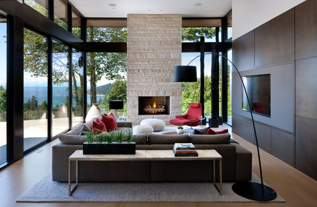 West Vancouver Residence modern-living-room