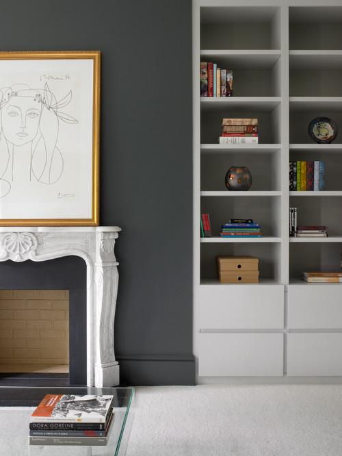 Surbiton Contemporary Media Furniture and Bookcase