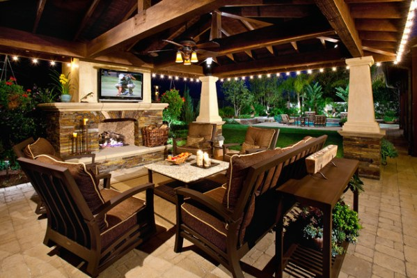 outdoor patio rooms with fireplace Fireplaces
