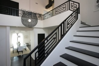 Modern Design Steel Staircase Railings Modern Staircase | Modern Style Stair Railing | Iron | House | Wrought Iron | Modern Luxury | Art Deco