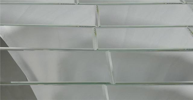 reflections 12 x24 silver beveled glass mirror field tile backsplash 12 x24