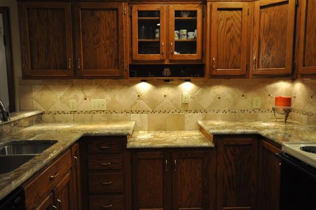 Granite Countertops and Tile Backsplash Ideas - Eclectic ... on Backsplash Ideas For Dark Granite Countertops  id=27527