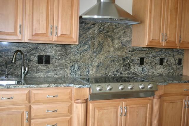 Granite Countertops and Tile Backsplash Ideas - Eclectic ... on Kitchen Backsplash Backsplash Ideas For Granite Countertops  id=69121