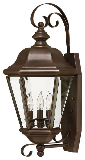 Hinkley Lighting Large Outdoor Wall Sconce shown in Copper ... on Sconce Outdoor Lighting id=70462