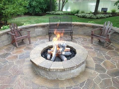 Park Ridge Fire Pit - Traditional - Patio - Chicago - by ... on Houzz Backyard Patios  id=89224