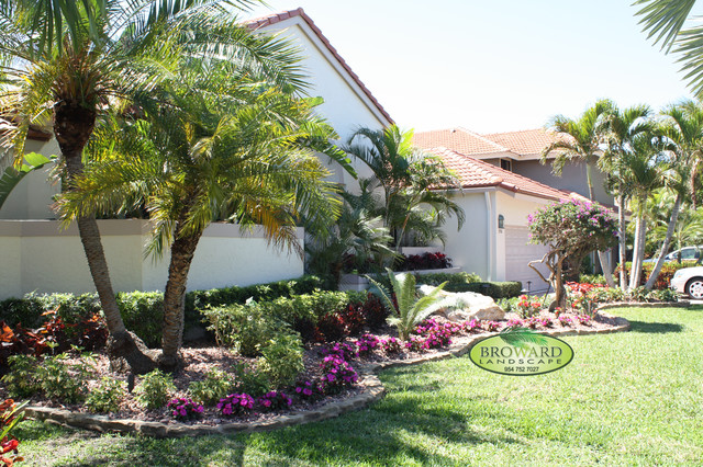 Front Yard Landscape - Tropical - Landscape - Miami - by ... on Tropical Backyard Landscaping  id=76935