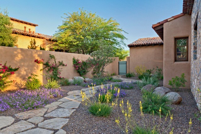 Silverleaf Colorful Xeriscape - Southwestern - Landscape ... on Xeriscape Backyard Designs id=64492