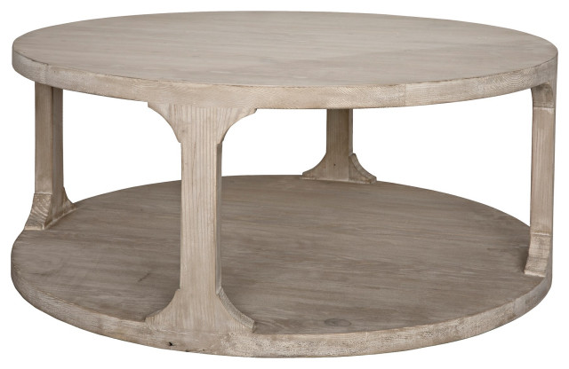 reclaimed lumber gimso round coffee table small