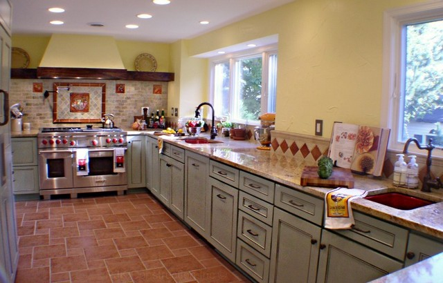 Tuscan Country Kitchen Eclectic Kitchen DC Metro