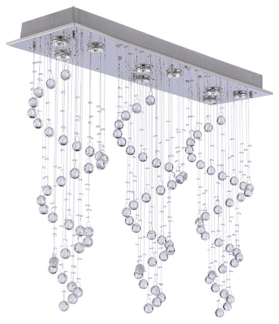 Modern Chandelier Rain Drop Crystal Ball Ceiling Lamp Contemporary Chandeliers