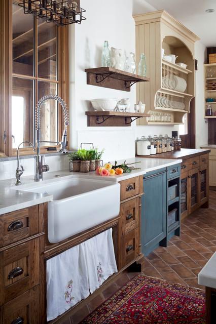"""Unfitted"" Rustic Farmhouse - Farmhouse - Kitchen - Denver ... on Rustic Farmhouse Kitchen  id=59446"