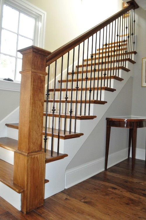 How To Replace Wood Stair Spindles Or Balusters With Wrought Iron   Rod Iron Spindles For Staircase   Interior   Cast Iron   Square   Custom   Metal