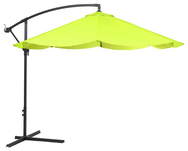 pure garden offset aluminum hanging patio umbrella lime green