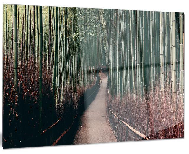 """""""Bamboo Grove In Arashiyama Panorama"""" Forest Metal Wall"""